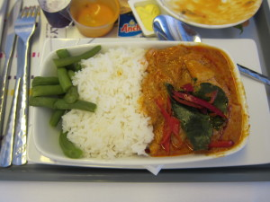 Thai Airways Lunch