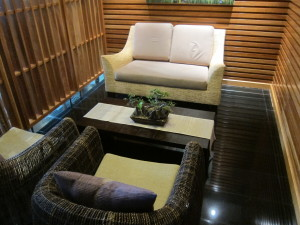 Thai airways first class spa waiting area