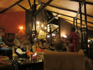 Night life at Fairmont Safari Club in Masai Mara Kenya
