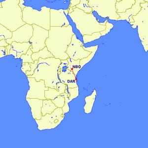 flight from Dar Es Salaam to Nairobi