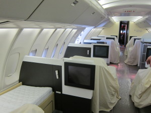 Lufthansa First Class under Maintenance