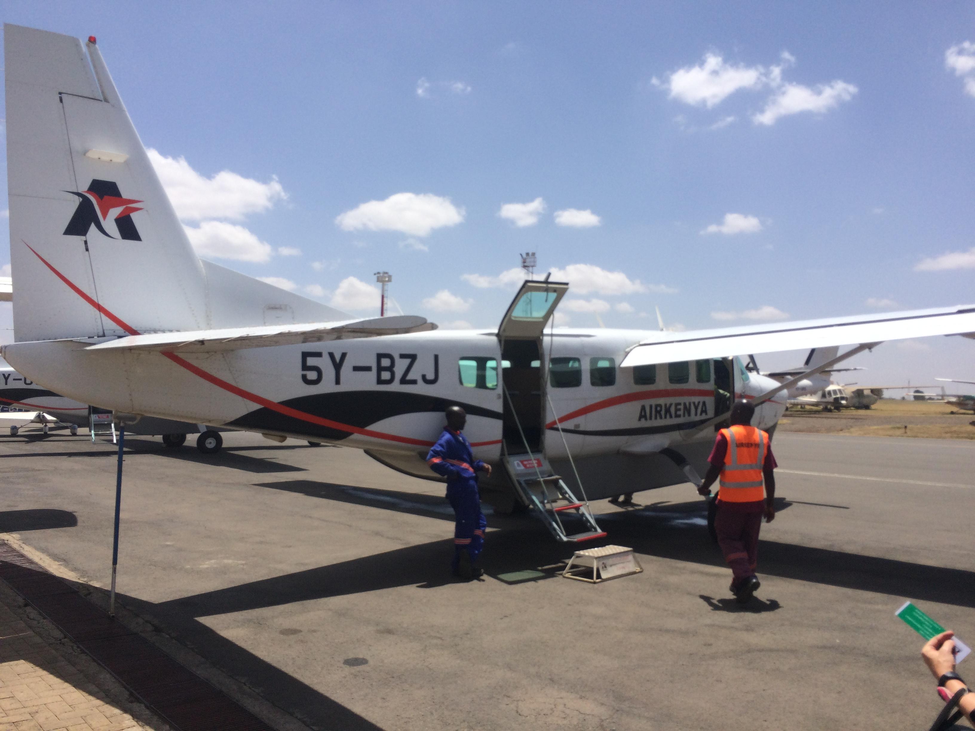 Air Kenya flight to Masai Mara