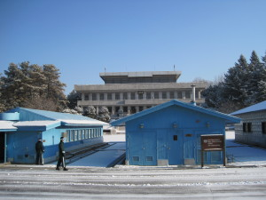 North Korean Soldiers Patrolling the Joint Security Area