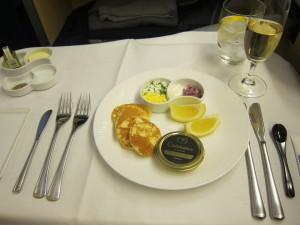 ANA First class Caviar