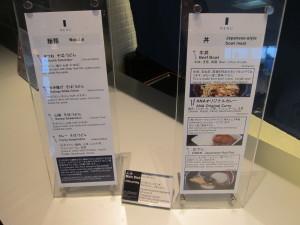 ANA Noodle Bar Options