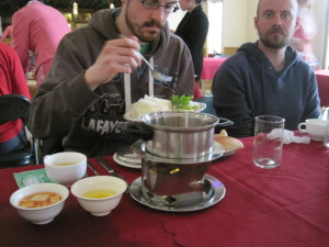 Yanggakdo Hotel hot pot lunch