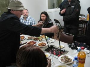 korean BBQ dinner North Korea