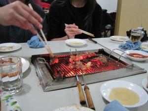 North Korea BBQ dinner
