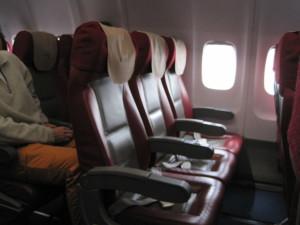 Coach Seats On The Russian Made Tupolev Air Koryo