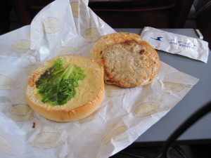 Air Koryo inflight food
