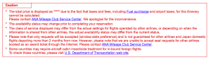 ANA Mileage Club Error