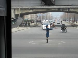 traffic girl North Korea pyonyang