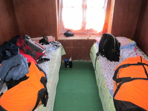 Tea house sleeping conditions on Everest Base camp