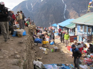 Local market on the Everest Base camp trek