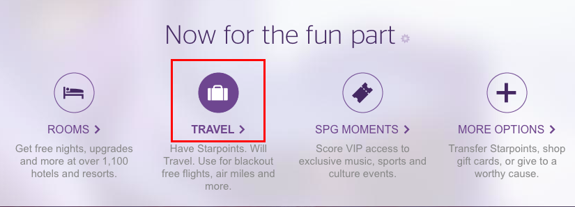 How to transfer SPG points