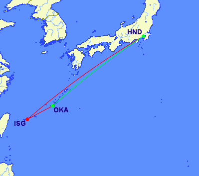 Tokyo to Ishigaki and return to Okinawa