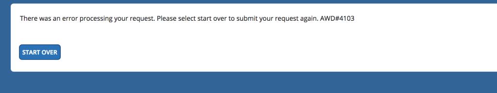 Error message on delta.com